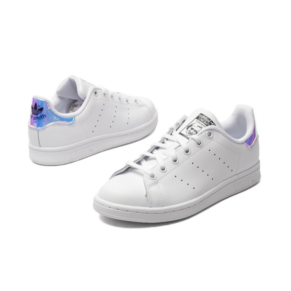 Adidas Stan smith white with colorful laser mirror
